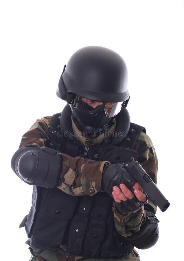 Soldado do golpe imagens de stock