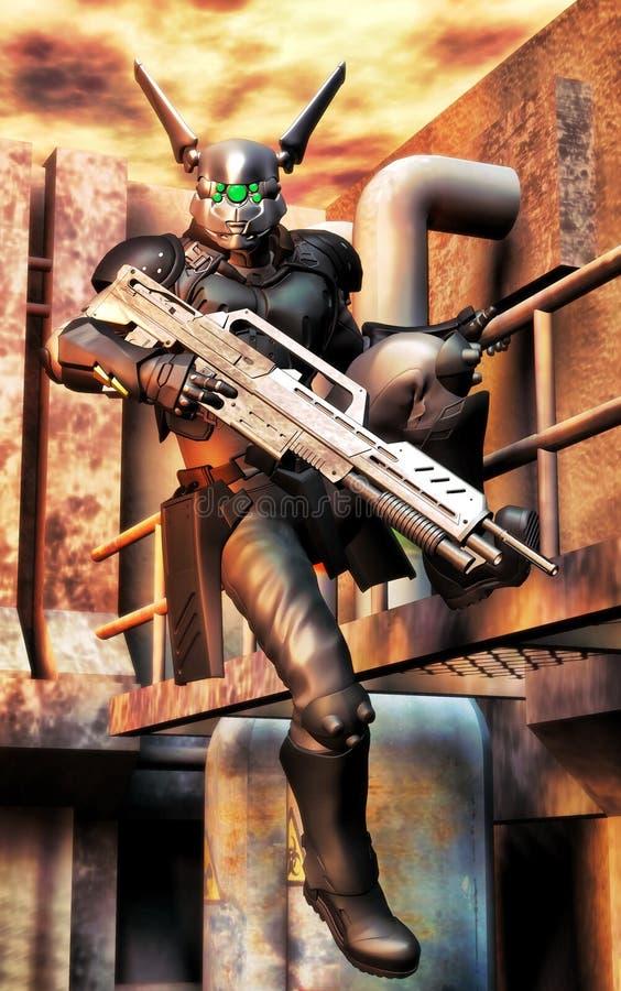 Soldado do robô ilustração do vetor