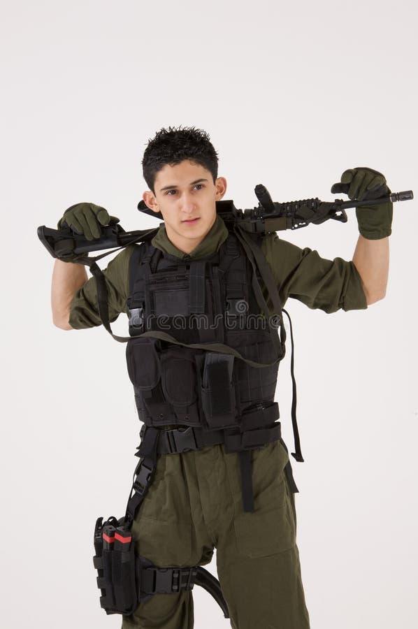 Soldado do SAS no pose ocasional fotos de stock