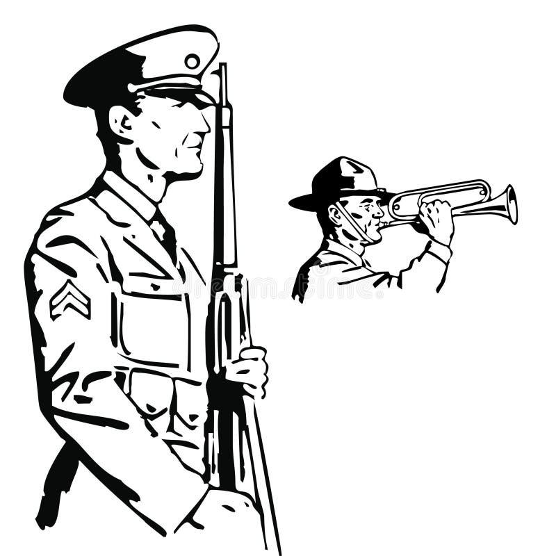 Soldado do vetor ilustração royalty free