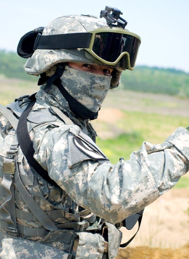 Soldado dos E.U. foto de stock royalty free