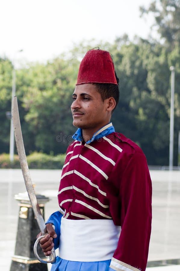 Soldado egipcio militar desconocido fotografía de archivo