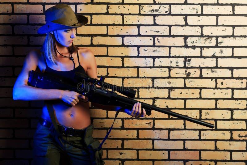 Soldado fêmea imagem de stock