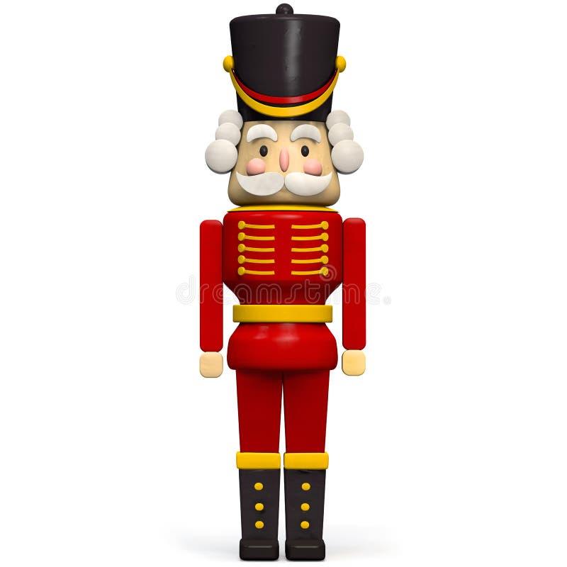 Soldado Figurine del cascanueces del carácter de la Navidad stock de ilustración