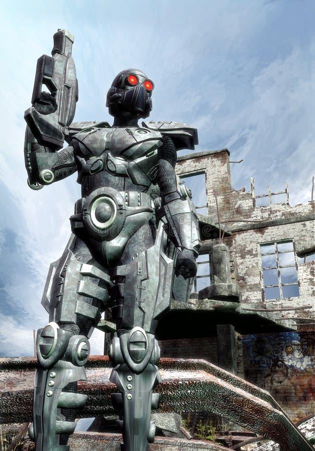 Soldado futurista ilustración del vector