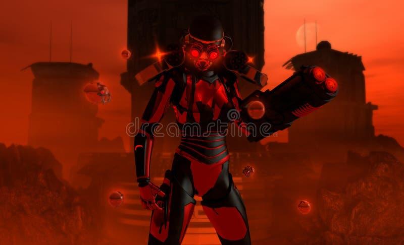 Soldado futuro ilustração stock