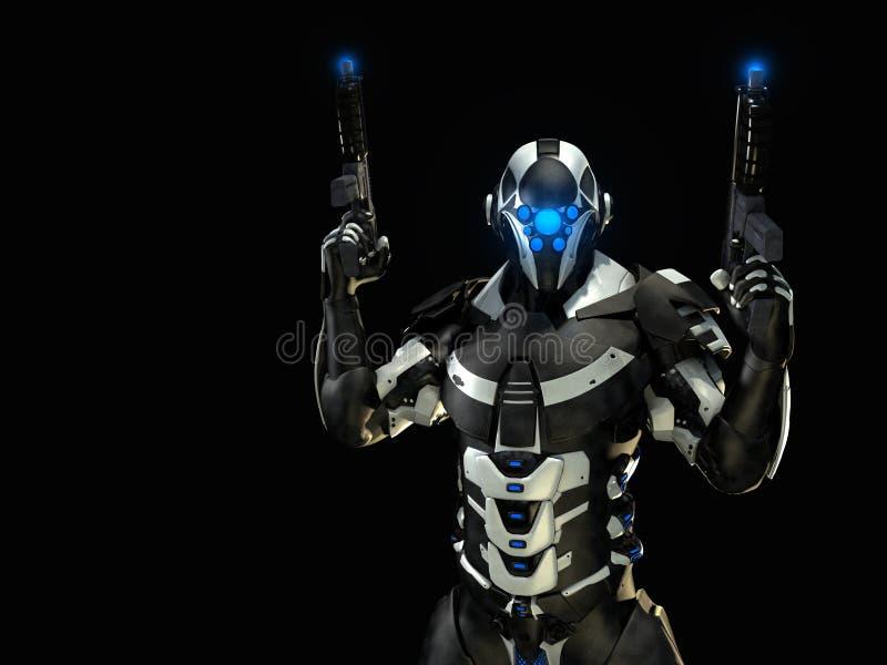 Soldado futuro avanzado ilustración del vector
