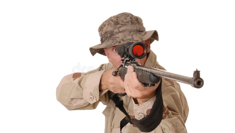 Soldado idoso 2 fotos de stock