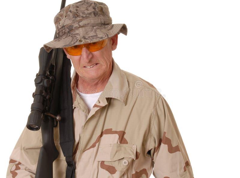 Soldado idoso 21 foto de stock