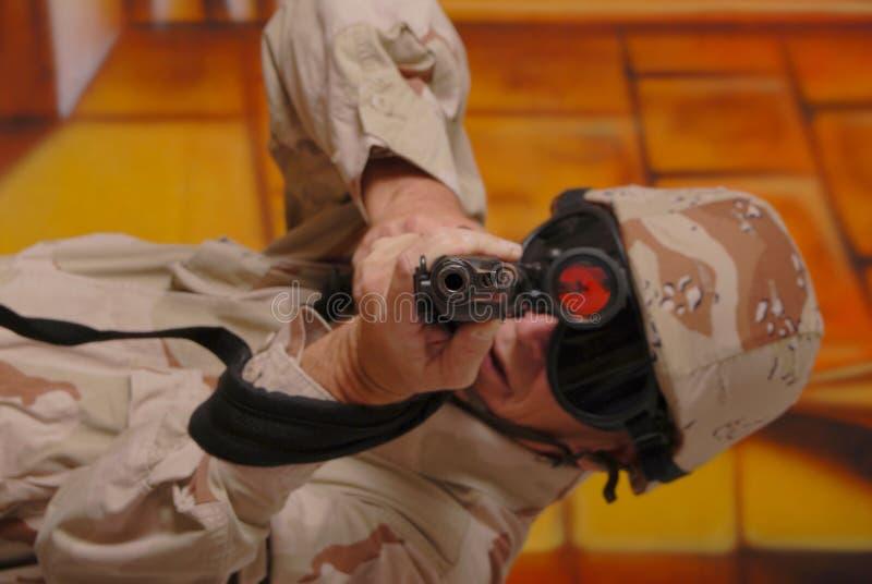 Soldado idoso 28 imagem de stock