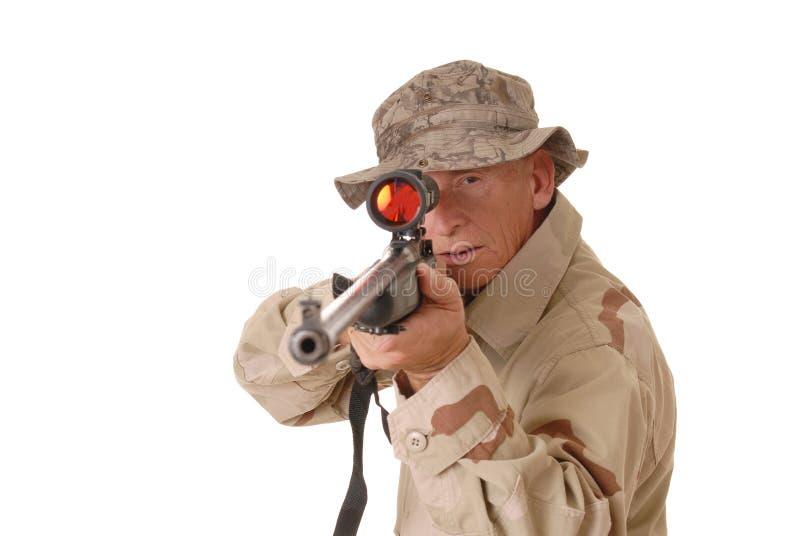 Soldado idoso 3 imagens de stock