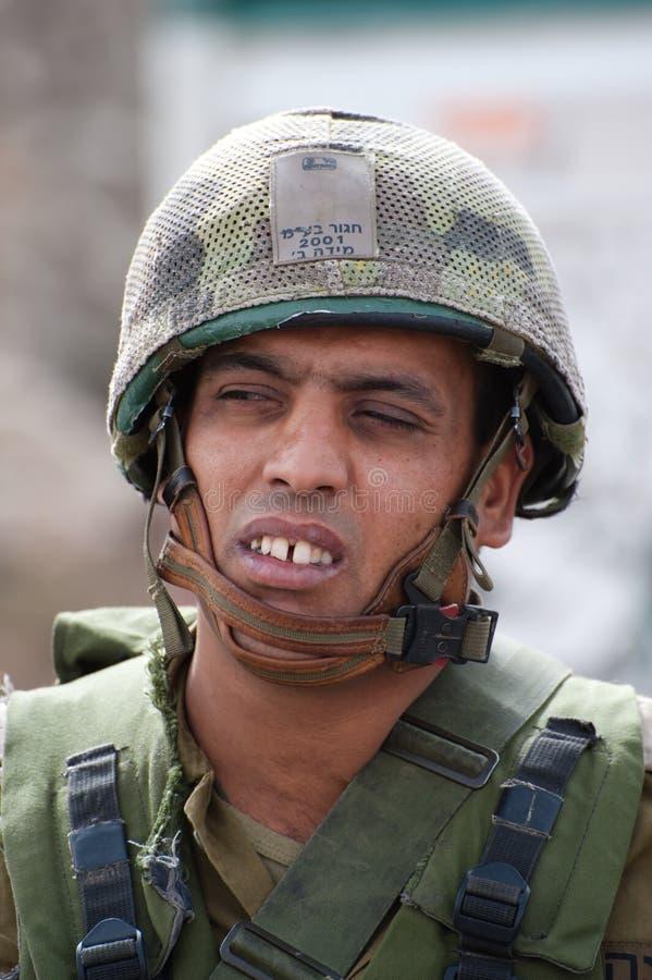 Soldado israelita foto de stock