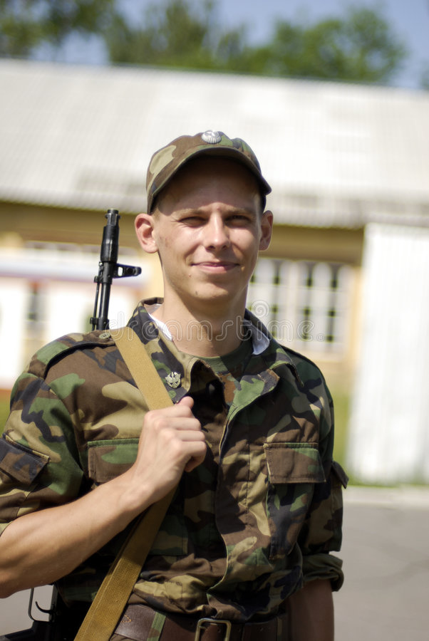 Soldado joven foto de archivo libre de regalías