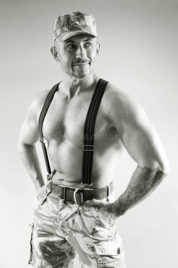 Soldado musculoso de la fortuna fotos de archivo