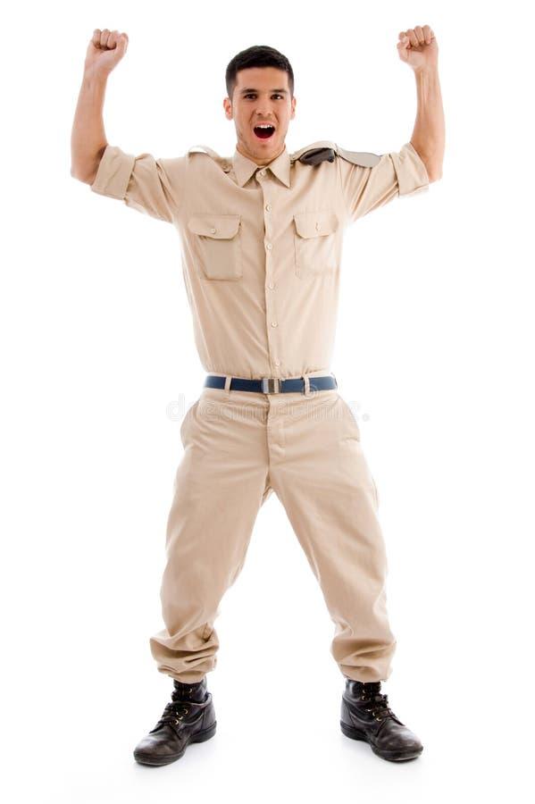 Soldado novo feliz fotos de stock