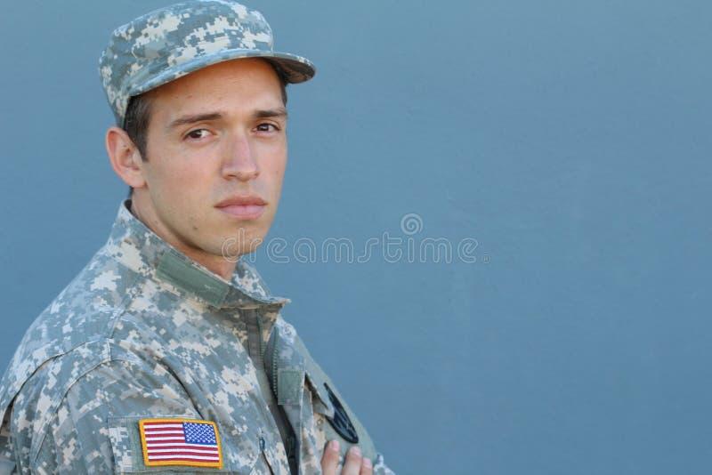 Soldado With PTSD de los E.E.U.U. imagenes de archivo