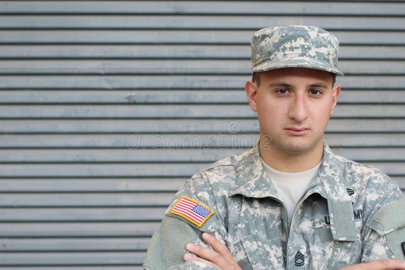 Soldado With PTSD dos E.U. imagem de stock royalty free