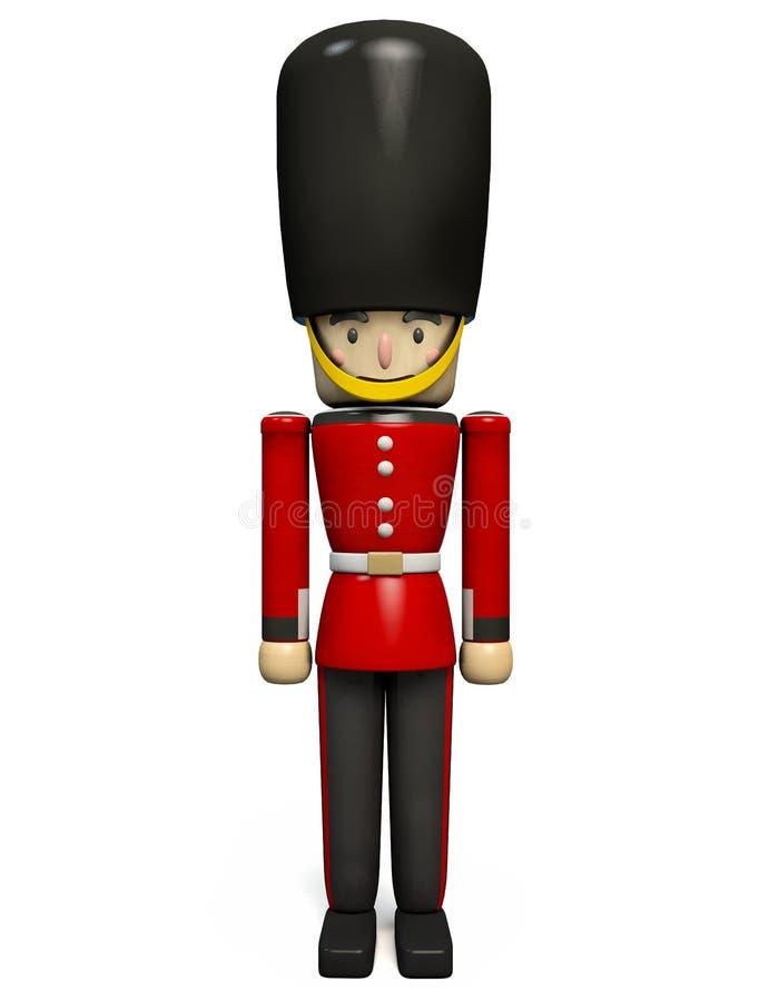 Soldado real británico Toy del guardia ilustración del vector