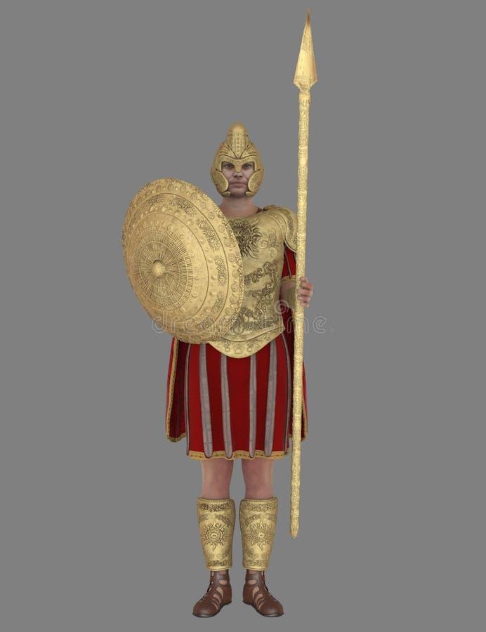 Soldado romano ilustração stock