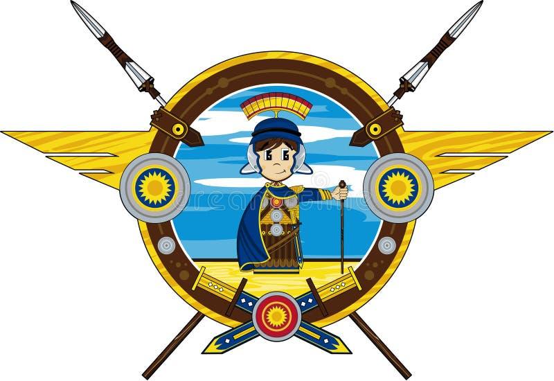 Soldado romano dos desenhos animados ilustração do vetor