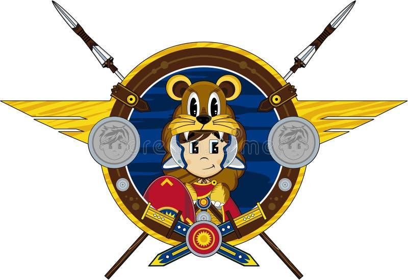Soldado romano dos desenhos animados ilustração stock