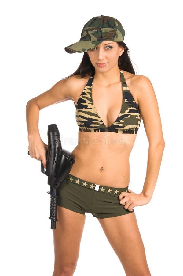 Soldado 'sexy' foto de stock