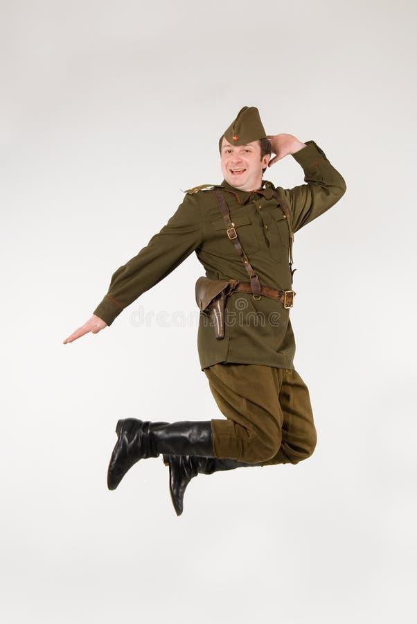 Soldado soviético foto de stock