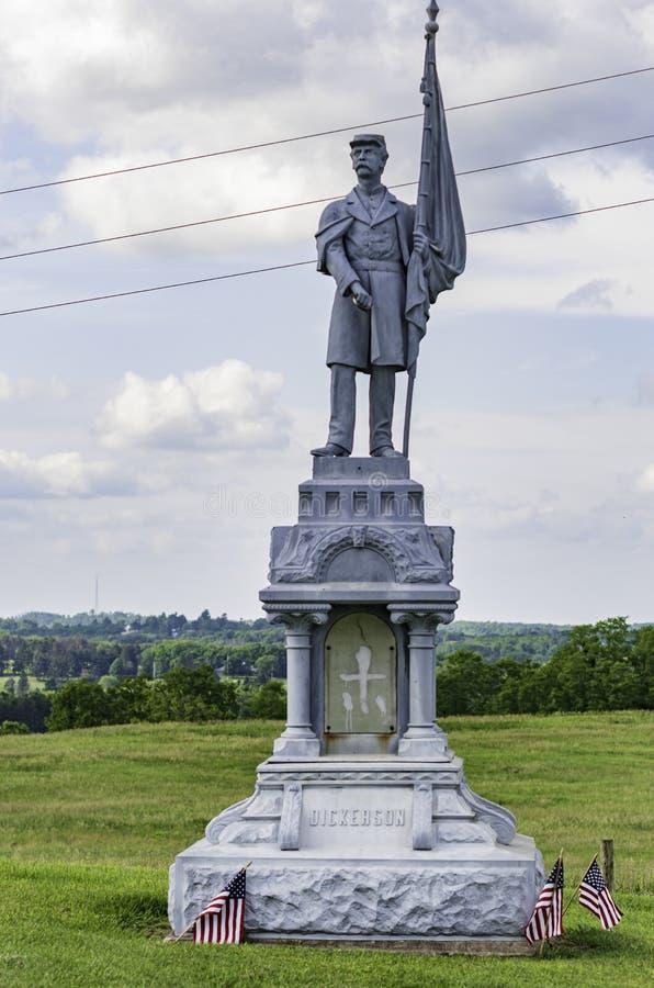 Soldado Statue de la unión en la iglesia de Dickerson fotos de archivo libres de regalías
