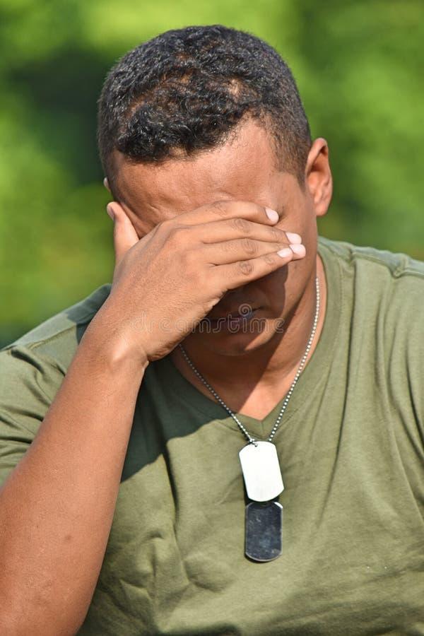 Soldado triste Recruit imagens de stock