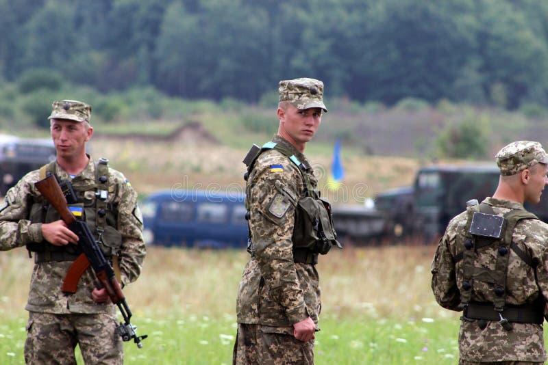 Soldado ucraniano fotografia de stock royalty free
