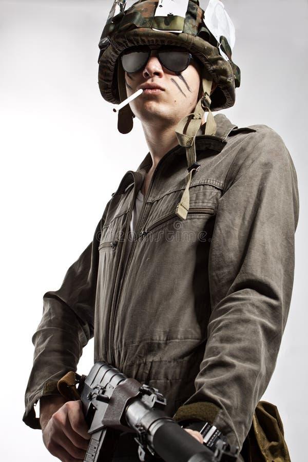 Soldado valiente foto de archivo