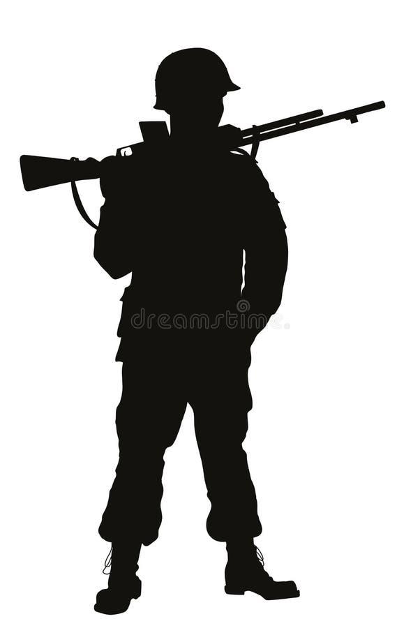 Soldado WW2 Tema de los guerreros libre illustration