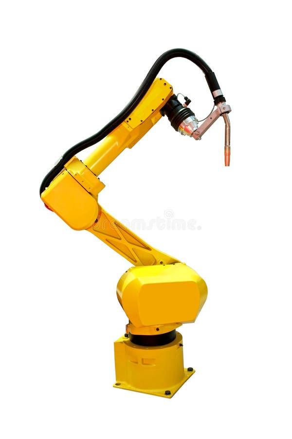 Soldador do robô imagens de stock royalty free