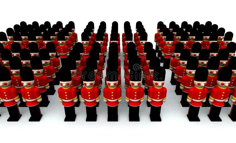 Soldados stock de ilustración