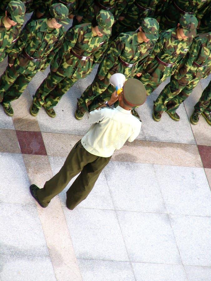 Soldados chineses fotos de stock