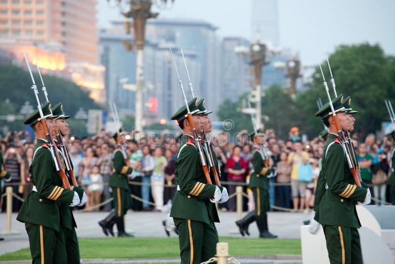 Soldados chinos foto de archivo