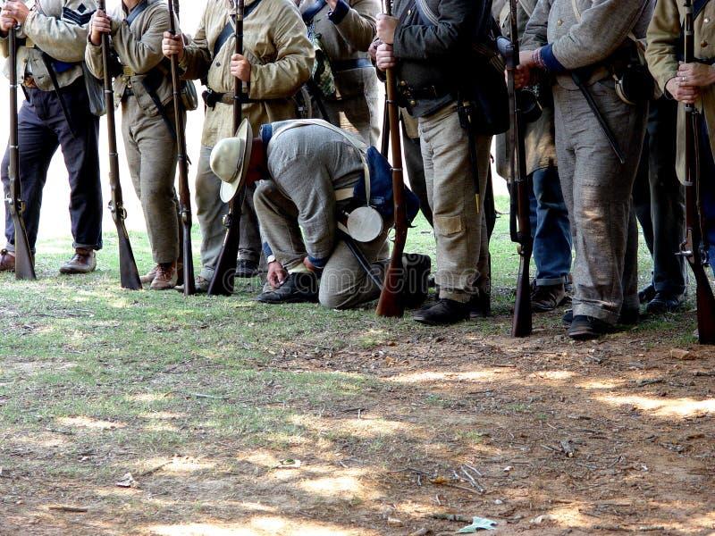 Soldados confederados imagen de archivo