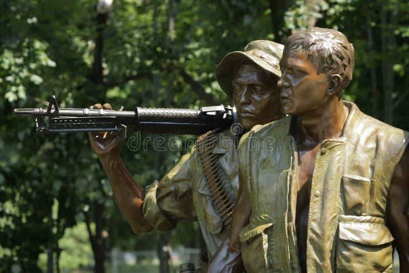 Soldados conmemorativos de la guerra de Vietnam en la C.C. de Washington foto de archivo libre de regalías