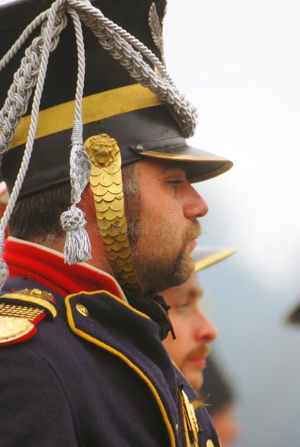 Soldados da guerra de Napoleão - reenactors foto de stock royalty free