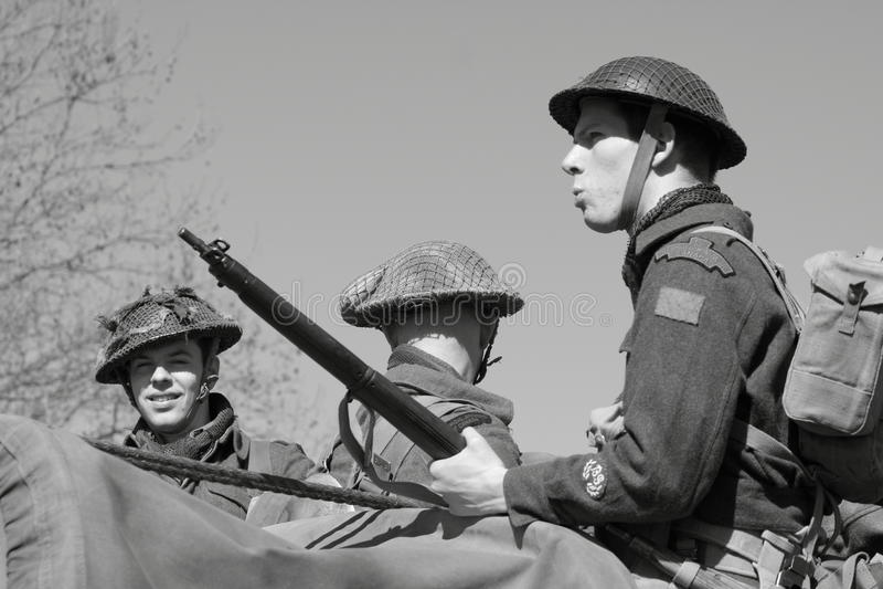 Soldados da segunda guerra mundial foto de stock
