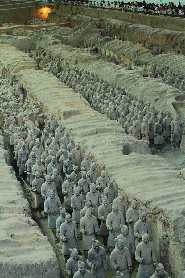 Soldados da terracota Xi no ` uma China fotos de stock