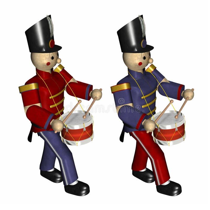 Soldados de juguete de la Navidad ilustración del vector