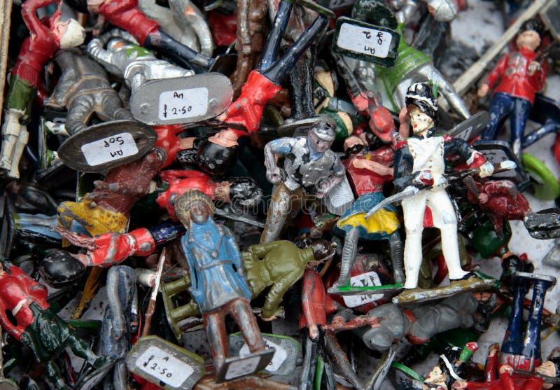 Soldados de juguete de la vendimia imagenes de archivo