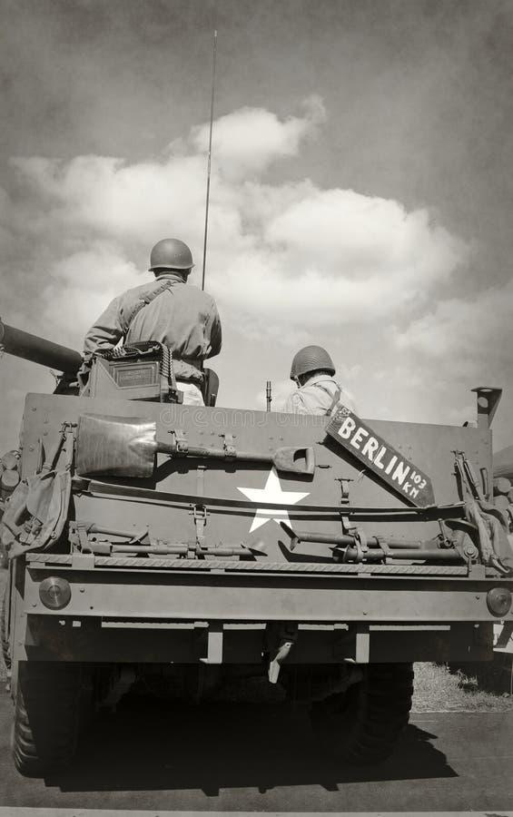 Soldados de la era de la Segunda Guerra Mundial imagen de archivo