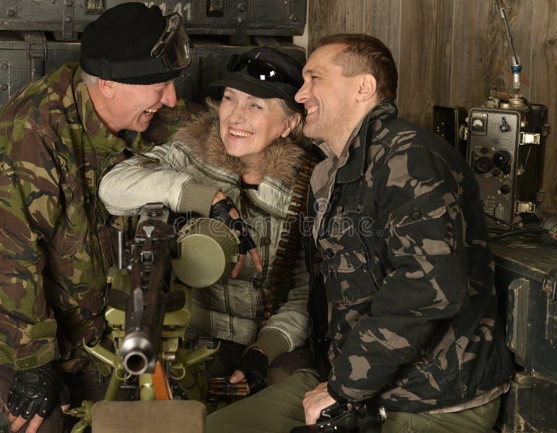 Soldados del combate armado imagen de archivo libre de regalías