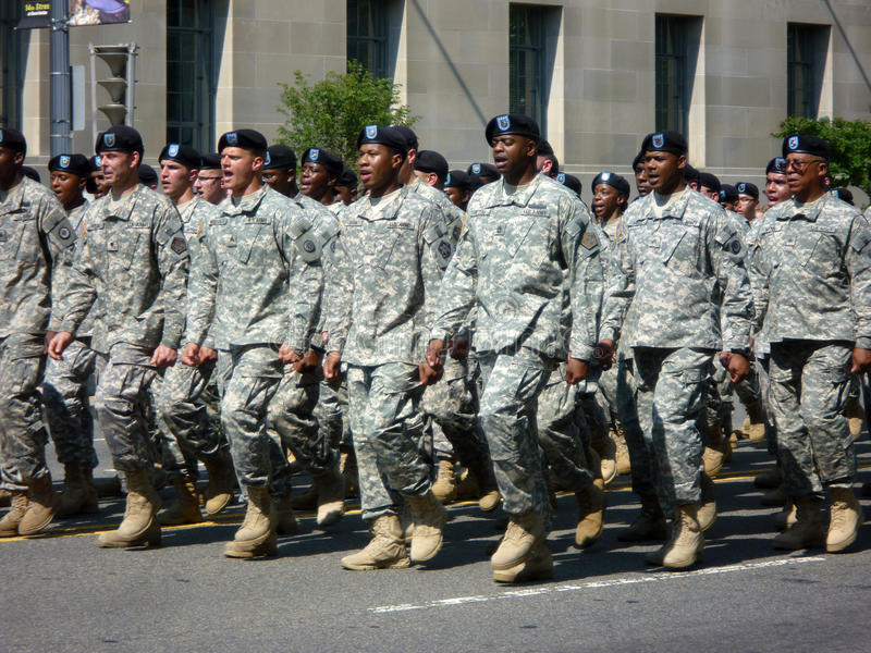 Soldados do exército de Estados Unidos foto de stock