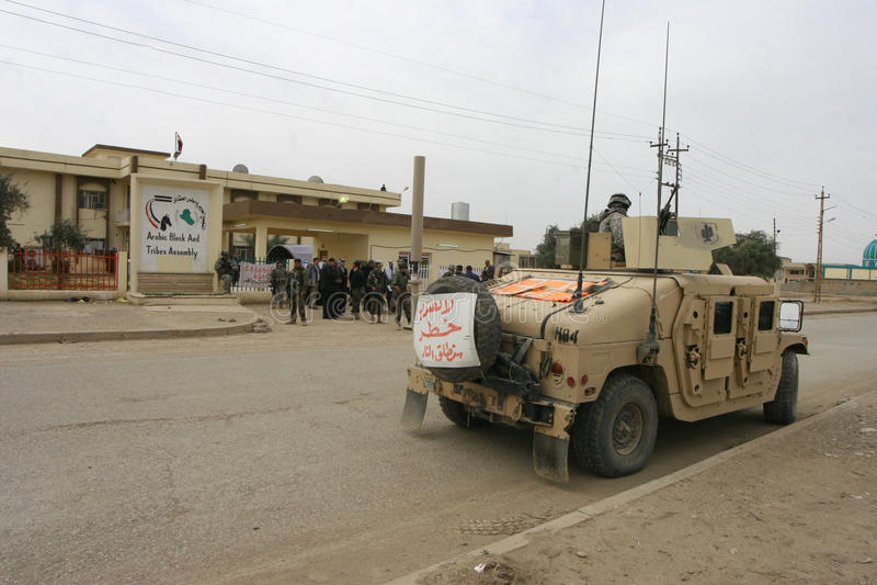 Soldados do exército dos EUA em Iraque fotografia de stock