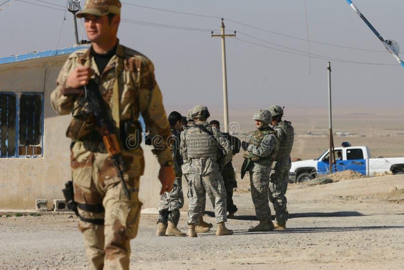 Soldados do exército dos EUA em Iraque fotos de stock