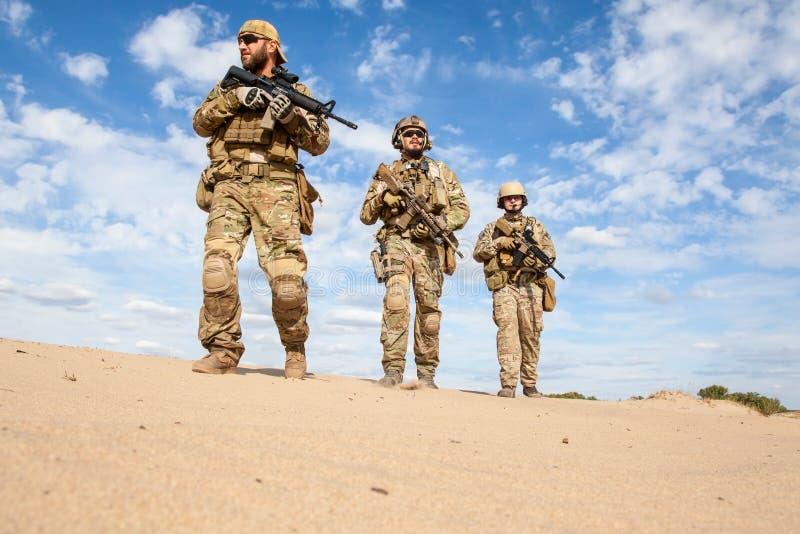 Soldados do grupo das forças especiais de exército dos EUA imagem de stock royalty free