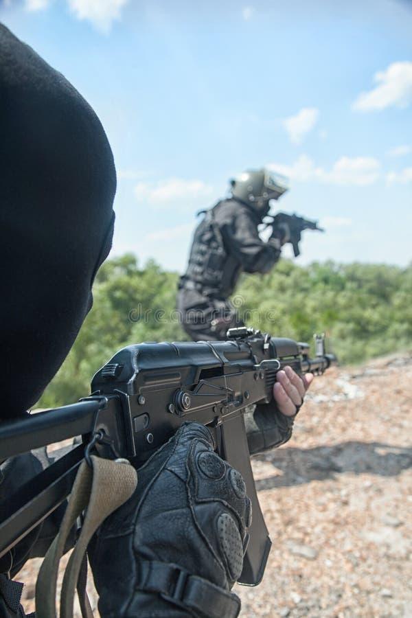 Soldados dos ops das especs. foto de stock royalty free
